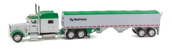 Trucks n Stuff TNS082 HO Peterbilt 389 Sleeper-Cab Tractor w/Grain Trailer -Nutrena