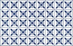 Plastruct 91862 Blue Snowflake Square Tile Paper Sheet (2pcs pkg)