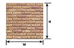 Plastruct 91886 Brown Brick Paper Sheet (2pcs pkg)