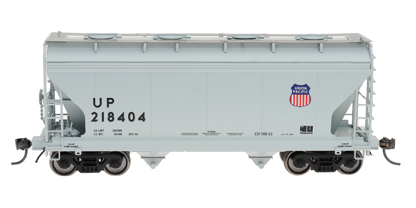 Intermountain Railway 46539-01 HO Scale ACF Center Flow Hopper Union Pacific UP Shield #218404