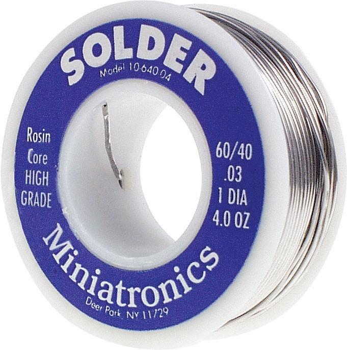 Miniatronics Corp 1064004 - 60/40 Rosin Core Solder - 4oz (113g)