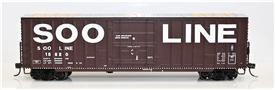Fox Valley Models 30050 HO Soo Line Built 7 Post Boxcar Soo Line #18836