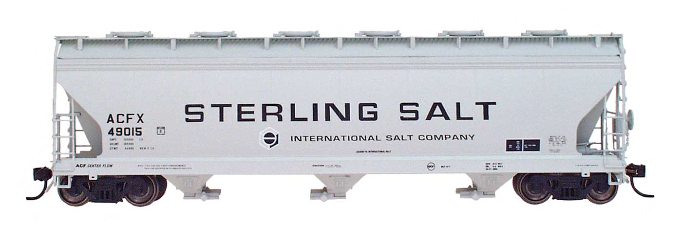 Intermountain 47026-12 HO RTR- ACF 4650 3-Bay Hopper - Sterling Salt #49053