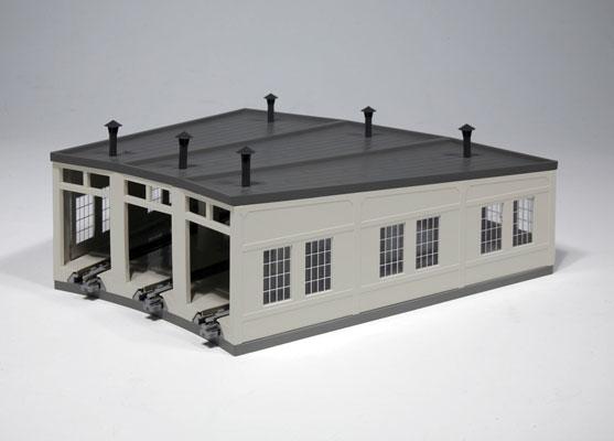 Kato 23-240 N Scale Three-Stall Concrete Roundhouse - kit
