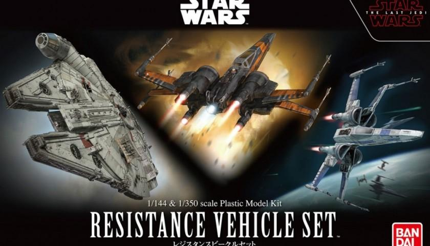 BanDai 219769 Star Wars Resistance Model Vehicle Set -  1/144 & 1/350 Scale