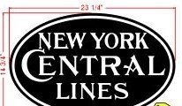 Stoddarts Ltd. NYCL - 3D Railroad Wall Artwork - New York Central - 1900 Lines - Logo