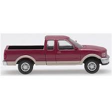 Atlas HO 1248 1997 Ford F-150 Pickup Truck - Red/Tan