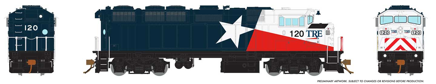Rapido 19025 HO GMD F59PH - DCC Ready - TRE Lone Star #120