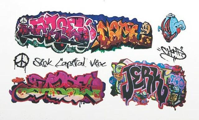 T2 Decals HOGRAF047 - HO Graffiti Decals - Set #47