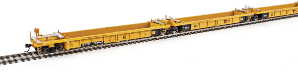 WalthersMainline 55618 HO Thrall 5-Unit Rebuilt 40 Ft Well Car - TTX DTTX 748512 A-E