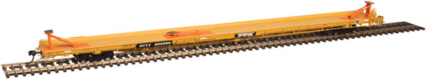 Atlas 20 004 104  HO Master  89 Ft  F89-J Flat Car - Triple Hitches - RTTX  #601065 (TTX Large Logo)