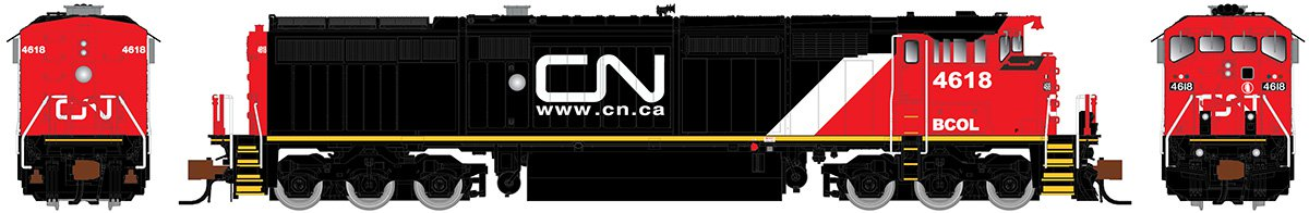 Rapido N Scale 540026 GE Dash 8-40CM - DCC Ready British Columbia Railway (CN Website) 4615 - Taking Orders Now