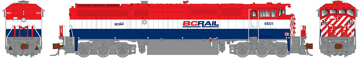 Rapido N Scale 540521 GE Dash 8-40CM - DCC & Sound British Columbia Railway (As Delivered) 4626 - Taking Orders Now