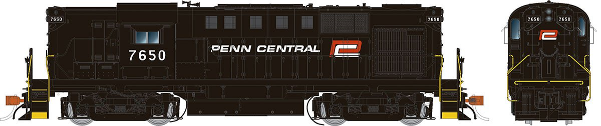 Rapido 31033 HO Alco RS-11 Penn Central (ex-PRR with red P) 7650 DCC Ready - Taking Orders Now