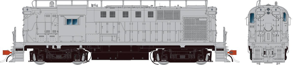 Rapido 31049 HO Alco RS-11 Locomotive - Undecorated (PRR version)  DCC Ready - Taking Orders Now