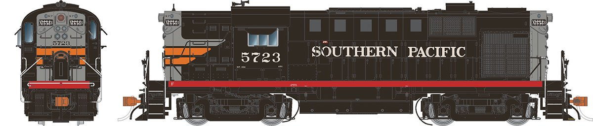 Rapido 31537 HO Alco RS-11 Southern Pacific (Black Widow) 5723 DCC & Sound - Taking Orders Now