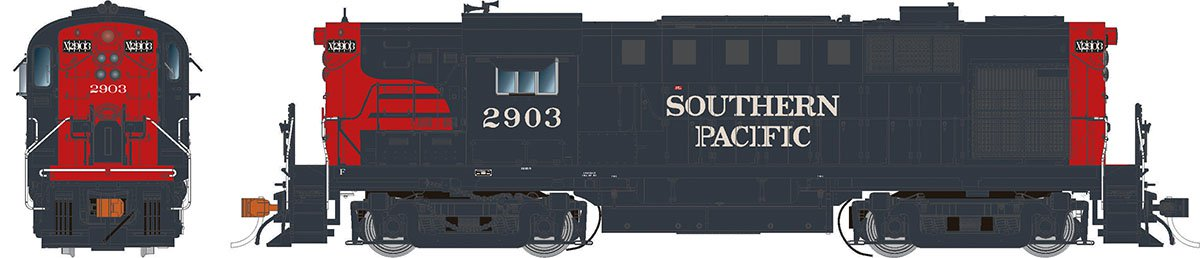 Rapido 31543 HO Alco RS-11 Southern Pacific (Bloody Nose) 2907 DCC & Sound - Taking Orders Now