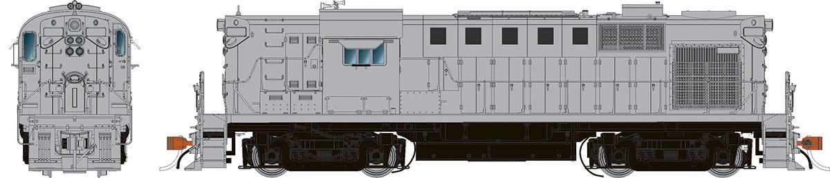 Rapido 31050 HO Alco RS-11 Locomotive - Undecorated (SP version)  DCC Ready - Taking Orders Now
