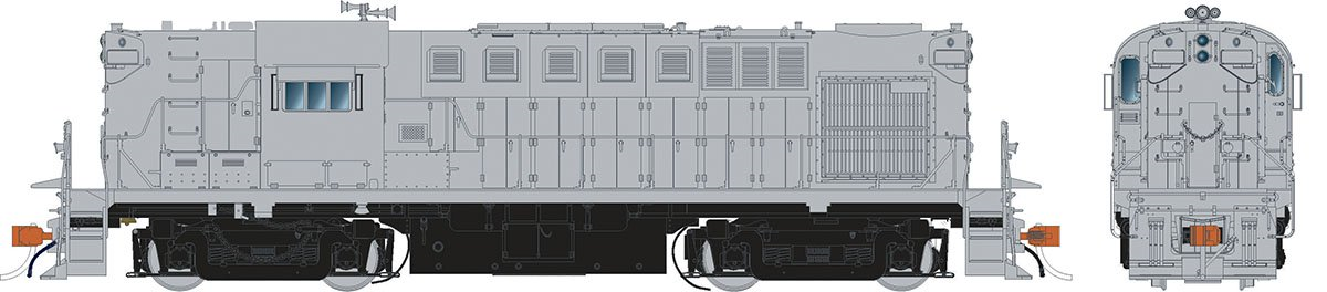 Rapido 31548 HO Alco RS-11 Locomotive - Undecorated (N&W version)  DCC & Sound  - Taking Orders Now