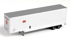 Trainworx 80307-01 HO 40' Hi-Cube Drop-Frame Smooth-Side Van Semi Trailer - Assembled - Union Pacific UPZ #20912