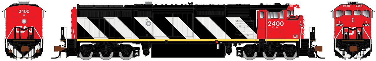 Rapido N Scale 540001 GE Dash 8-40CM - DCC Ready Canadian National (Stripes) - 2400 - Taking Orders Now