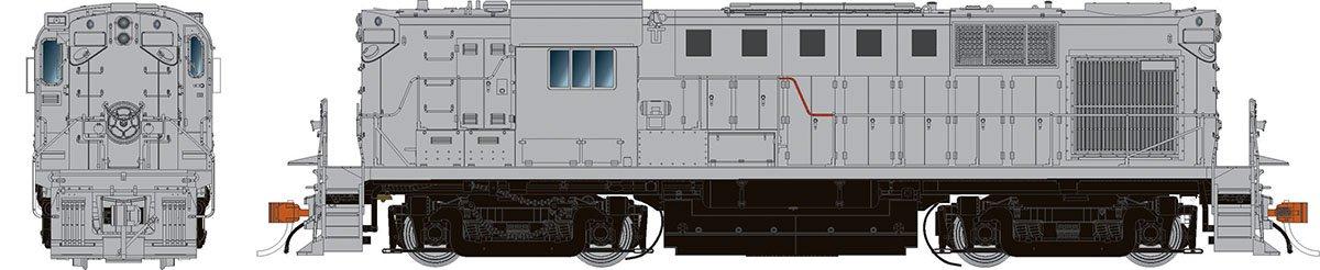 Rapido 31547 HO Alco RS-11 Locomotive - Undecorated (NH version)  DCC & Sound  - Taking Orders Now