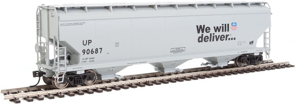 Walthers Mainline - 7622 - HO 60 ft NSC 5150 3-bay Covered Hopper - Union Pacific UP #90769