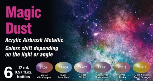 Vallejo 77090 - The Shifters Eccentric Color Series - Acrylic - Magic Dust (6/pkg)