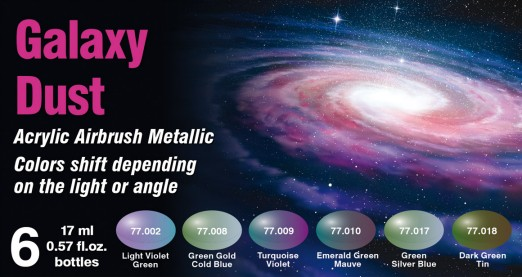 Vallejo 77092 - The Shifters Eccentric Color Series - Acrylic - Galaxy Dust (6/pkg)