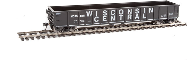 Walthers Mainline 6170 HO 53 Ft Thrall Smooth-Side Gondola - Ready to Run - Wisconsin Central 55177