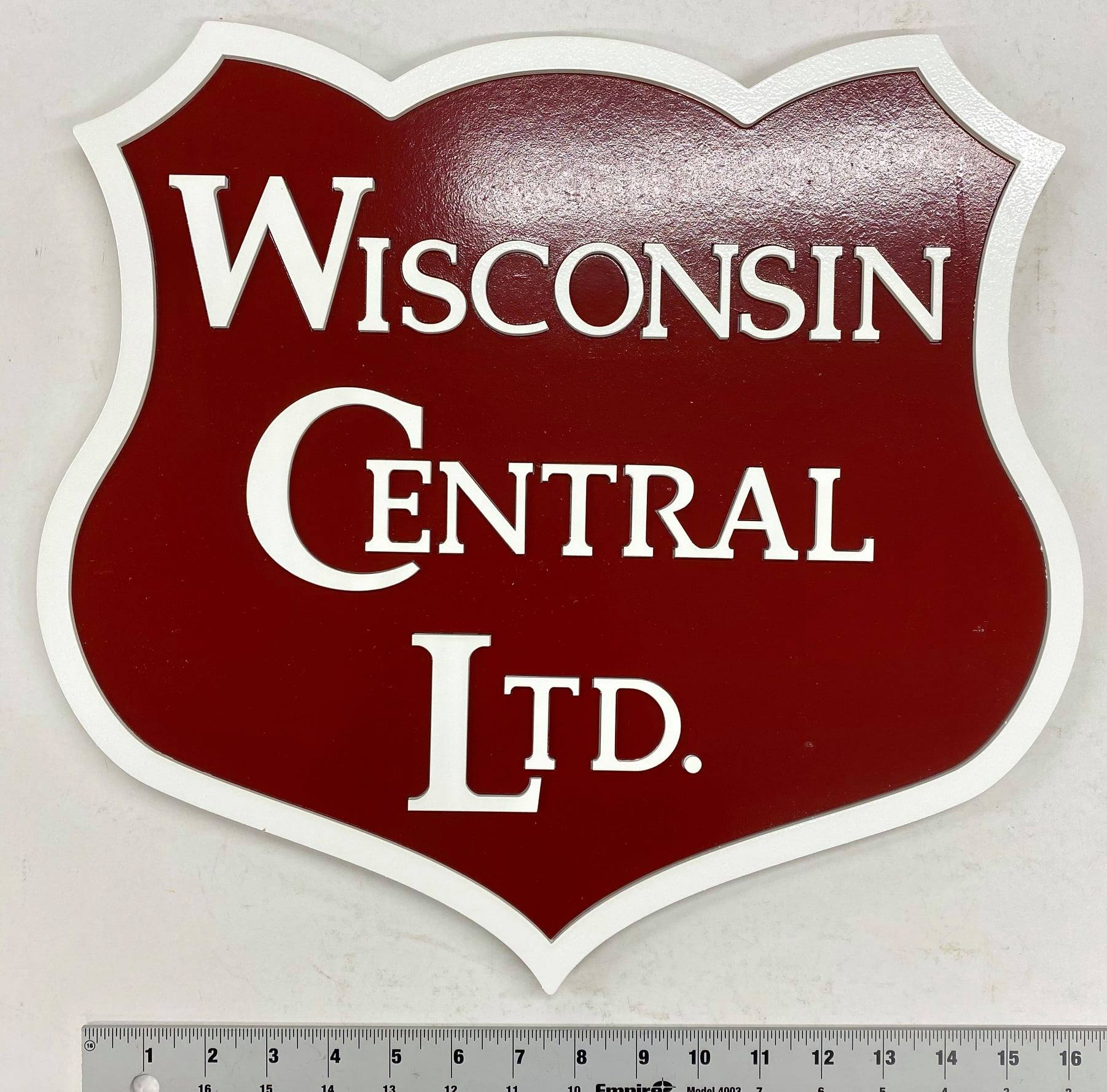 Stoddarts Ltd. WC - 3D Railroad Wall Artwork - Wisconsin Central Logo