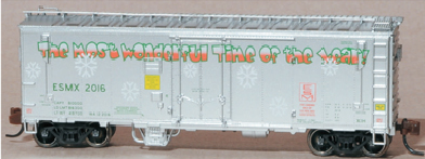 Eastern Seaboard Models 003005 N Scale Magor 40 Ft Insulated Ventilated Xll Boxcar - 2016 Christmas Car