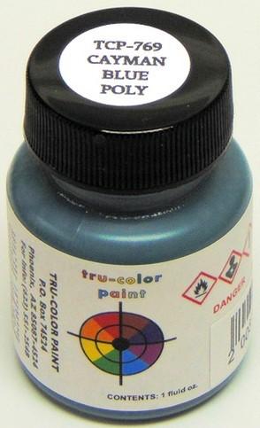 Tru Color Paint 769 - Acrylic - Cayman Blue Poly - 1oz
