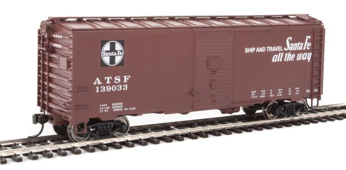 Walthers Mainline 1333 - HO AAR 1944 Boxcar - Santa Fe/ATSF (Ship and Travel) #139098