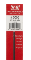 K&S Engineering 5005 All Scale - 12 inch Long Round Music Wire - 0.025inch Diameter pkg(4)