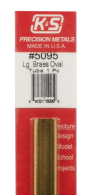 K&S Engineering 5095 All Scale - Large Brass Oval Tube - 0.014 Thick x 12 inch Long