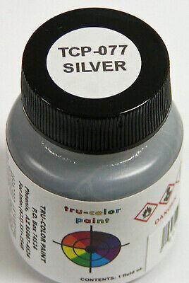 Tru Color Paint 077 - Acrylic - Silver - 1oz