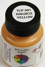 Tru Color Paint 081 - Acrylic - Railbox Yellow - 1oz
