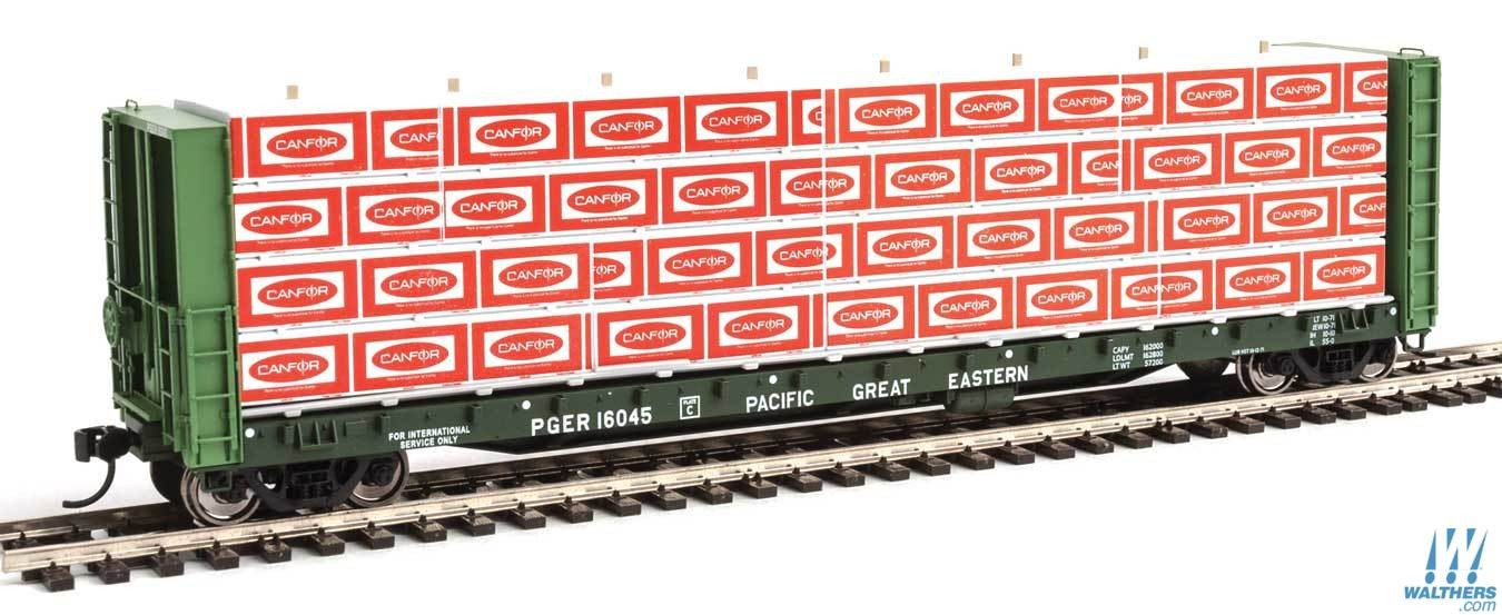 Walthers SceneMaster HO scale 3121 - Wrapped Lumber for 50 Ft Bulkhead Flatcar - Canadian Forest - CanFor