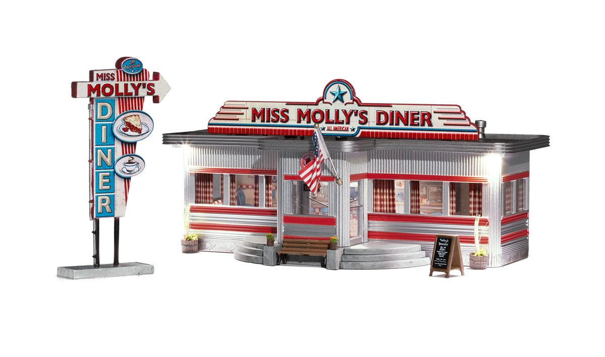 Woodland Scenics 5066 - HO Just Plug Built & Ready - Miss Mollys Diner