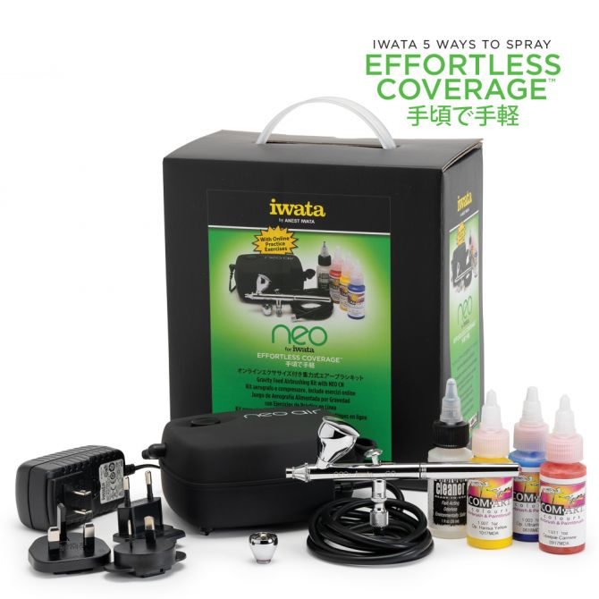 Iwata NEO for Iwata Gravity Feed Airbrushing Kit with NEO CN Kit