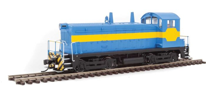 Walthers Mainline 20610 - HO EMD NW2 Phase V - DCC/Sound - Painted, Unlettered (blue/yellow)