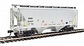 Walthers 7531 HO Scale - 39Ft Trinity 3281 2-Bay Covered Hopper - Chicago Freight Car Leasing CRDX #21757