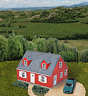 Walthers Cornerstone 3839 N Cape Cod House -Kit