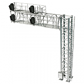 Atlas Model Railroad Co. 70000099 HO Scale 2-Track Modern Cantilever Signal Bridge - All Scales Signal System 4 Signal Heads, Right-Hand Fully Assembled 150-70000099