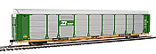 WalthersProto 101323 HO - 89ft Thrall Bi-Level Auto Carrier - Ready To Run - Burlington Northern Rack - TTGX Flatcar #150517