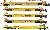 WalthersMainline 55627 HO - Thrall 5-Unit Rebuilt 40 Ft Well Car - Ready to Run - TTX - DDTX #741220 A-E