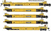 WalthersMainline 55626 HO - Thrall 5-Unit Rebuilt 40 Ft Well Car - Ready to Run - TTX - DDTX #741128 A-E
