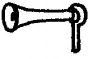 Alloy Forms 3127 - HO Short Singular Air Horns (6pcs)