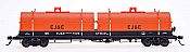 InterMountain RR-32502-39 HO Red Caboose Evans 100 Ton Coil Car - Elgin, Joliet & Eastern #7036